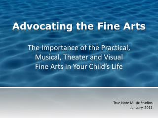 Advocating the Fine Arts