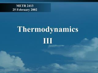 METR 2413 25 February 2002