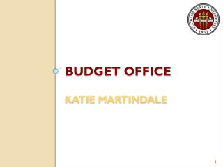 Budget Office Katie Martindale