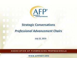 Strategic Conversations Professional Advancement Chairs