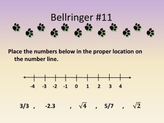 Bellringer  #11