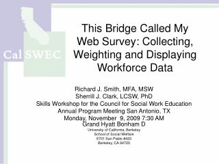 This Bridge Called My Web Survey: Collecting, Weighting and Displaying Workforce Data