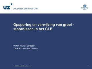 Opsporing en verwijzing van groei - stoornissen in het CLB