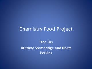 Chemistry Food Project