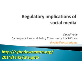 Regulatory implications of  social media