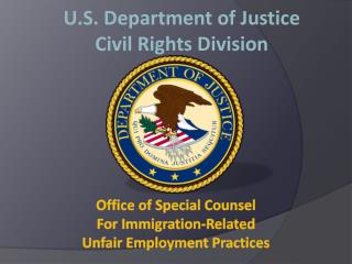 U.S.  Department  of Justice Civil Rights Division