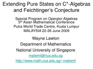 Extending Pure States on C*-Algebras and Feichtinger's Conjecture