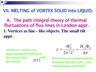 1. Vortices as line - like objects. The small tilt appr.