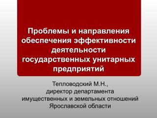 Тепловодский М.Н., директор департамента имущественных и земельных отношений Ярославской области