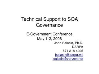 Technical Support to SOA Governance