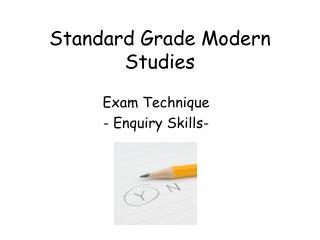 Standard Grade Modern Studies