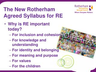 The New Rotherham  Agreed Syllabus for RE