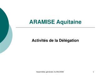 ARAMISE Aquitaine