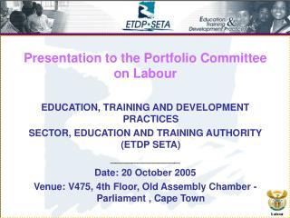 Presentation to the Portfolio Committee on Labour