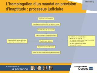 L homologation d un mandat en pr vision d inaptitude : processus judiciaire