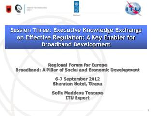 Regional Forum for Europe Broadband: A Pillar of Social and Economic Development