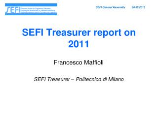 SEFI Treasurer report on 2011