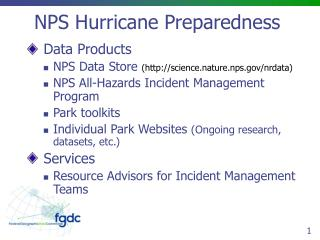 NPS Hurricane Preparedness