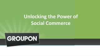 Unlocking the Power of  Social Commerce