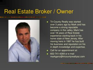 Real Estate Broker / Owner