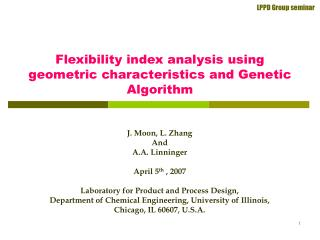 Flexibility index analysis using geometric characteristics and Genetic Algorithm