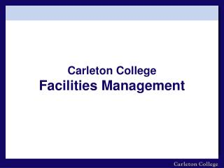 Carleton College Facilities Management