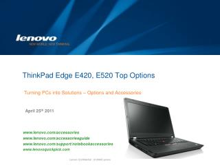 ThinkPad Edge E420, E520 Top Options
