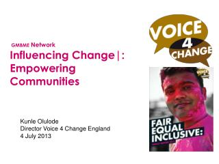 A national voice for the Black and Minority Ethnic voluntary and community sector