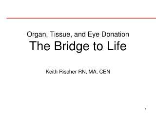 Organ, Tissue, and Eye Donation The Bridge to Life