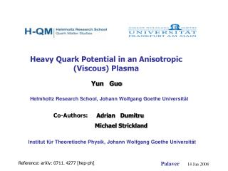 Heavy Quark Potential in an Anisotropic (Viscous) Plasma