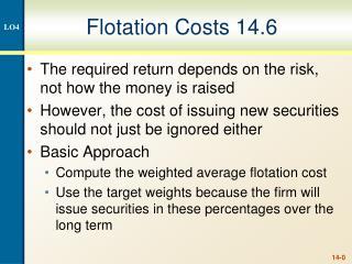 Flotation Costs 14.6