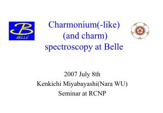 Charmonium(-like)  (and charm) spectroscopy at Belle