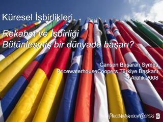 Cansen Başaran Symes PricewaterhouseCoopers Türkiye Başkanı 3 Aralık 2008