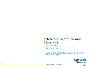 Network Detection and Analysis