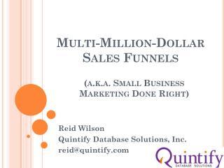 Multi-Million-Dollar  Sales Funnels