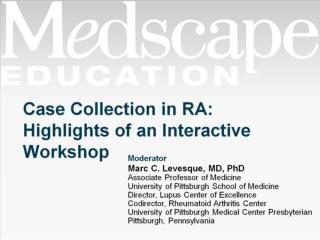 Case Collection in RA: Highlights of an Interactive Workshop
