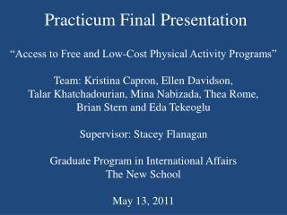 Practicum Final Presentation
