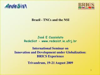 Brazil - TNCs and the NSI