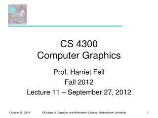 CS 4300 Computer Graphics