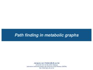 Path finding in metabolic graphs