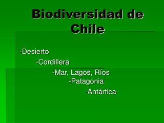 Biodiversidad de Chile