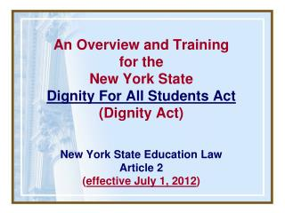 Dignity Act Basics