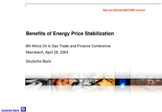Benefits of Energy Price Stabilization