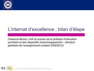 23 mai 2011   Direction g n rale de l enseignement scolaire   Fabienne Bensa