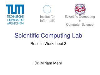 Scientific Computing Lab