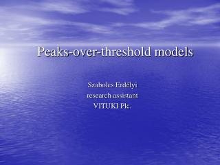 Peaks-over-threshold models