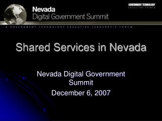 Shared Services in Nevada