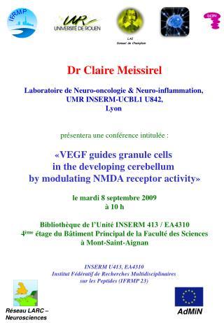 Dr Claire Meissirel Laboratoire de Neuro-oncologie & Neuro-inflammation,