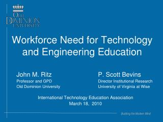 Workforce Need for Technology and Engineering Education