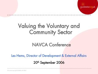 Valuing the Voluntary and Community Sector  NAVCA Conference